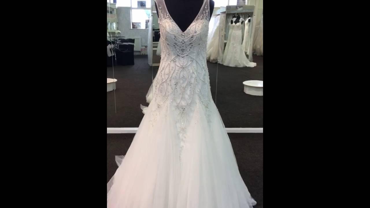 68065 Ronald Joyce Wedding Dress - Bridal Factory Outlet - YouTube