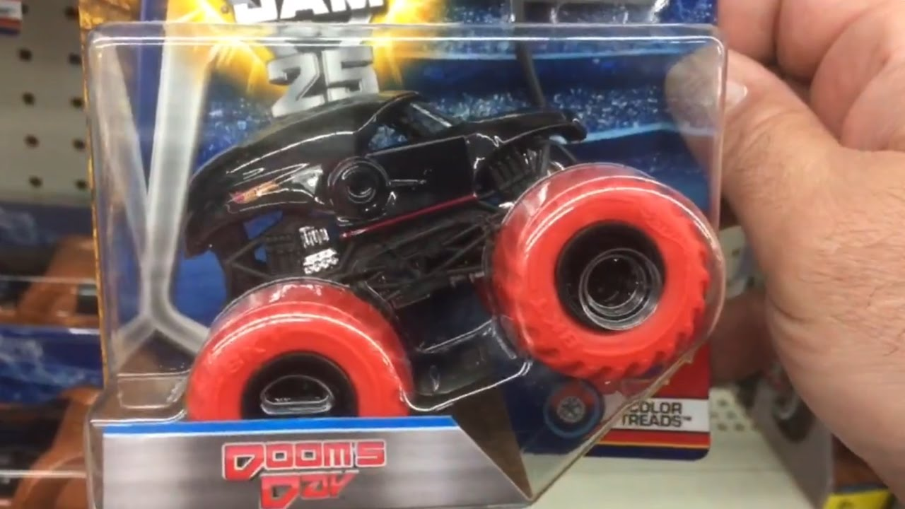 DOOMSDAY Color Treads Red Wheel Monster Jam WALMART ISMJ