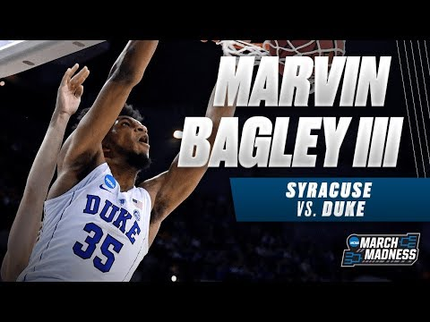 Dukes Marvin Bagley III drops 22 points on Syracuse in the Sweet 16