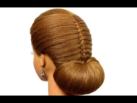 Bun Updo: Hairstyle for Long Medium Hair Tutorial