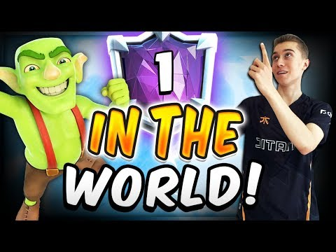8000+ TROPHIES! #1 IN THE WORLD W/ MORTAR — Clash Royale