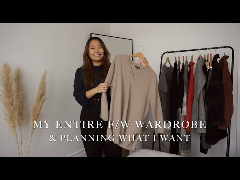 Trying On Everything In My F/W Wardrobe (Thrifted & Eileen Fisher)