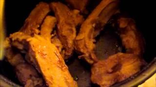 свиные ребрышки с картофелем в мультиварке