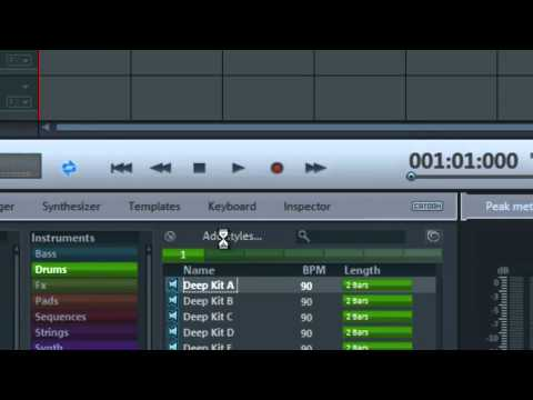 How to reset the Soundpool style sounds in magix music maker and recover them