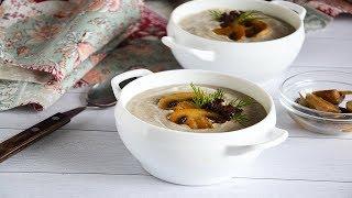Суп пюре грибной со сливками