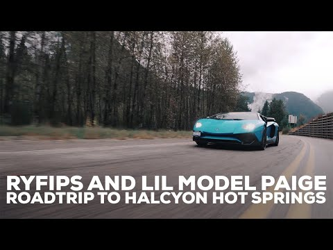 Ryfips & Lil Model Paige Roadtrip To Halcyon Hot Springs! (Iphone Vlog)