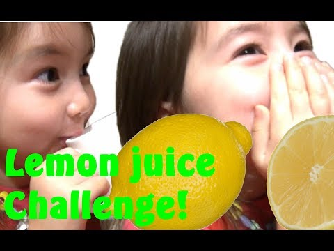 Lemon juice challenge with kids, SO FUNNY!! Beat the sour taste and be HEALTHY with lemon juice!