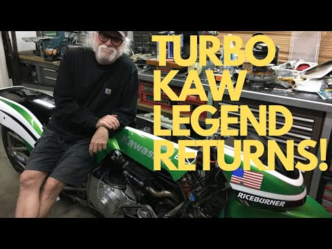 ICONIC TURBO ZX-11 DRAG BIKE! Legendary Kawasaki Funny Bike Racer STEVE RICE Returns!