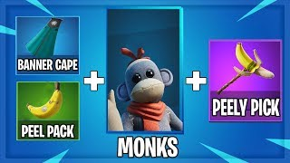 MONKS BEST COMBOS | BEḞORE YOU BUY! (Monks skin and Peely Pack!)