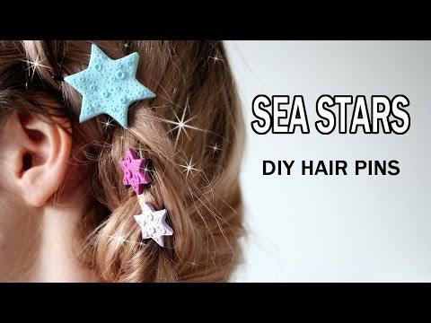 SUMMER DIY Starfish Hair Pins