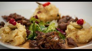 Бефстроганов на сливках с грибами и вялеными томатами | Мясо. От филе до фарша