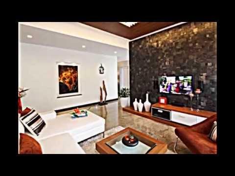 Attraktive Wandgestaltung im Wohnzimmer Wand in