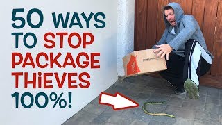 How to STOP Holiday Package Thieves / Porch Pirates!