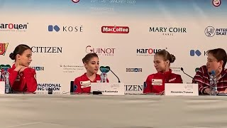 Press Conference Ladies European Championships 2020 SP