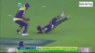 peshawar zalmi vs quetta gladiators 1st semi final last 3 overs highlights