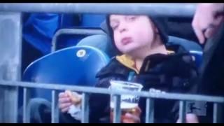 Kid Drinks BEER at Soccer Game?