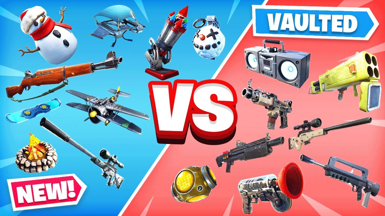 NEW vs VAULTED Season 7 ITEMS in Fortnite! - YouTube