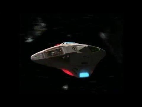 """Star Trek Voyager - Delta Flyer attacked in Borg debris field """"Imperfection"""""""