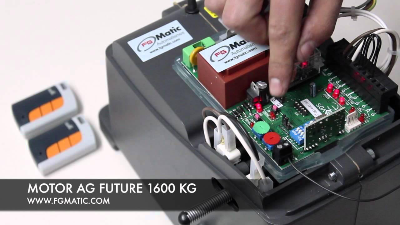 Programar motor puerta corredera ag future1600 kg youtube - Motor puerta corredera ...