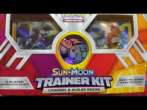 Sun /& Moon Trainer Kit Lycanroc /& Alolan Raichu Card Game Pokemon TCG