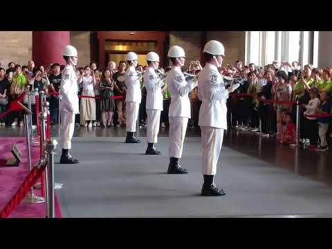 20180422國父紀念館(Sun Yat-Sen Memorial Hall)-15:00海軍儀隊交接