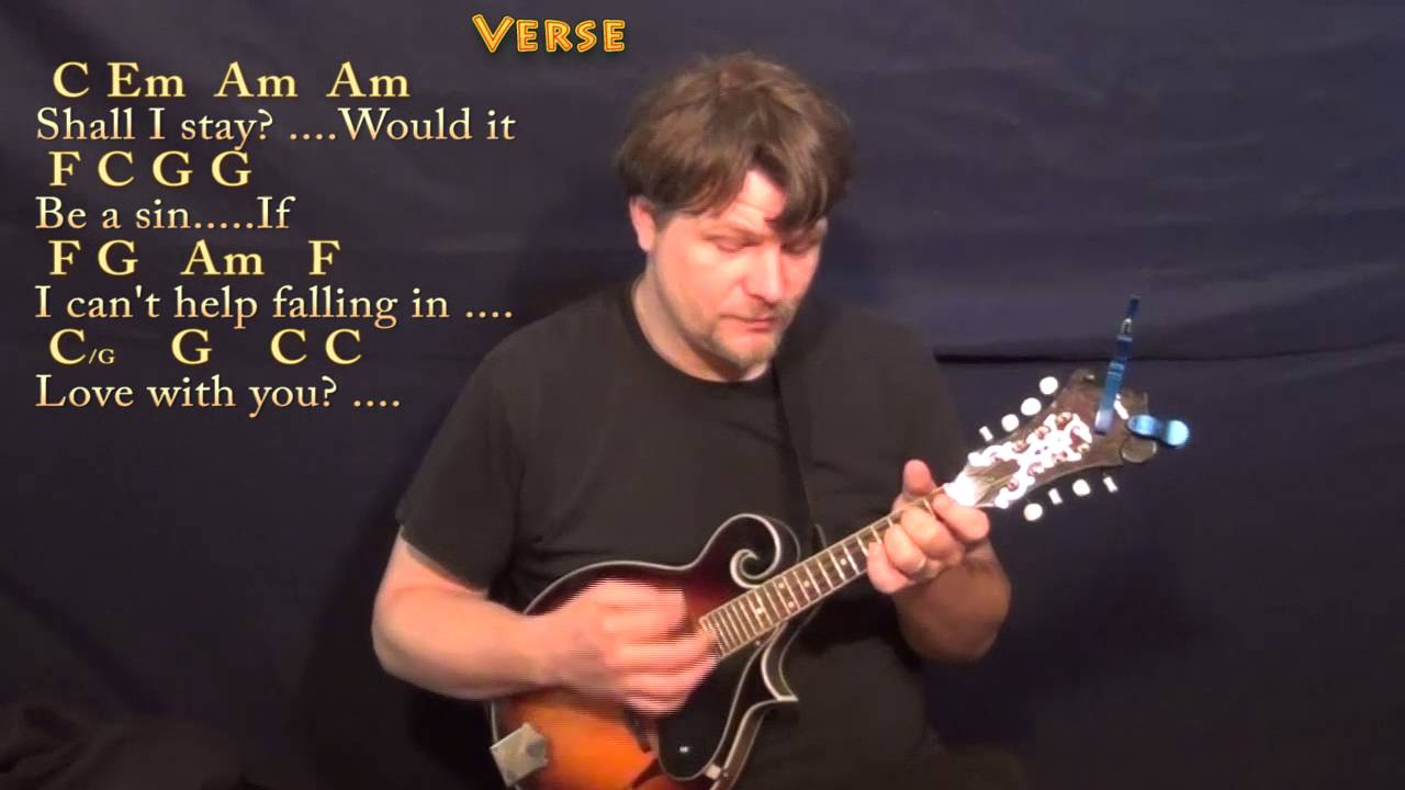 Cant Help Falling In Love Elvis Mandolin Cover Lesson In C With