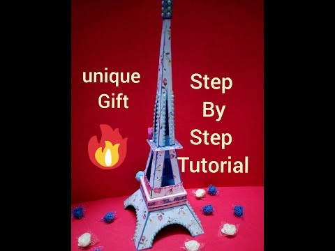 unique gift | step by step tutorial of paper Eiffel tower | the paper magic