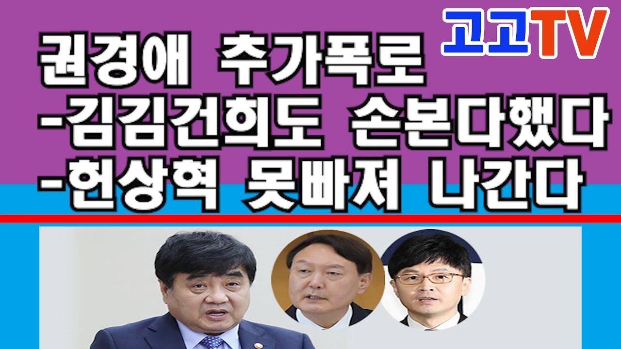 권경애 추가 대폭로 김김건희도 손본다했다 공작정치종범 헌상혁 못빠져나간다