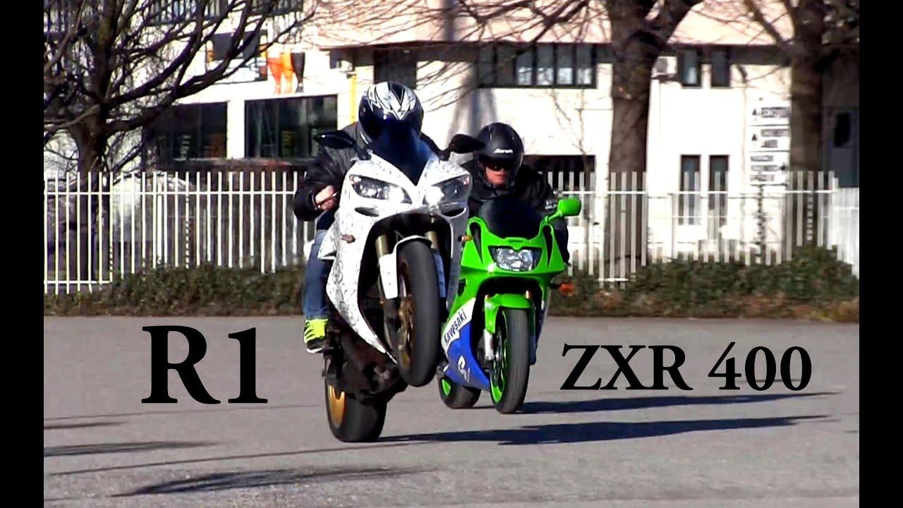 画像: Yamaha R1 Vs Kawasaki ZXR 400 0-100 www.youtube.com