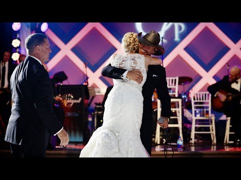 Tim McGraw Surprises Bride - My Little Girl - YouTube