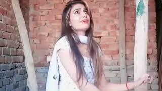 Cute girl dance on haryanvi Ragni