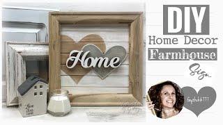DIY Farmhouse Home Decor | DIY Farmhouse Wood Sign | DIY Farmhouse Crafts