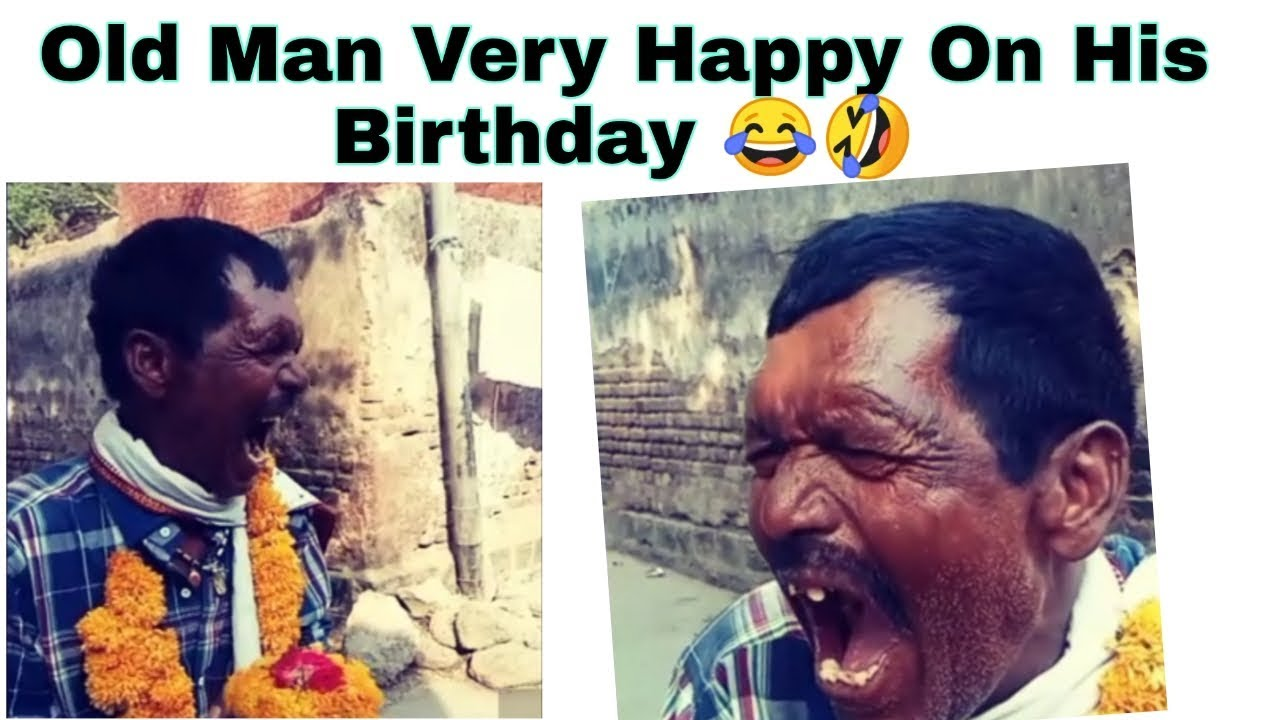 Funny Old Man Celebrating Our Happy Birthday By Singing Happy Birthday Song Youtube