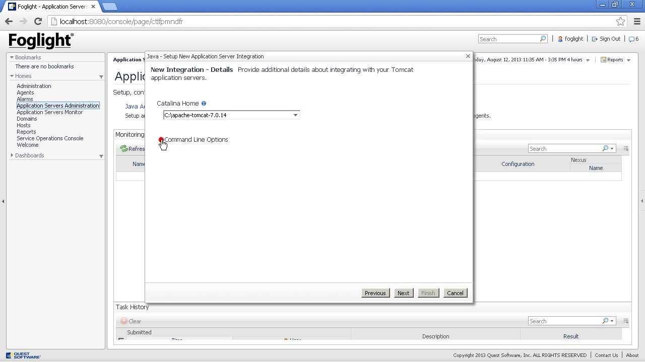 Foglight - Java agent Tomcat configuration