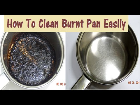 diy how to clean burnt pan easily useful kitchen tip. Black Bedroom Furniture Sets. Home Design Ideas