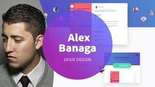 Live UI/UX Design with Alex Banaga - 2 of 3