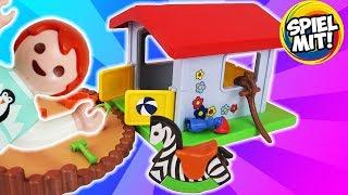 EMMAS NEUES SPIELHÄUSCHEN - Playmobil Kita & Spielplatz Erweiterung mit großem Sandkasten 9814