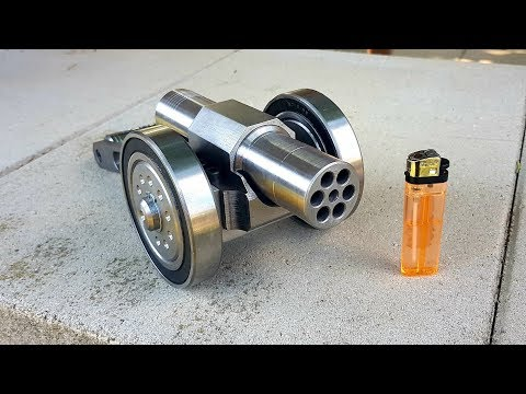 SIX Barrel !!! Powerful Mini Cannon. 9mm Caliber. Most Powerful mini Cannon EVER !!!