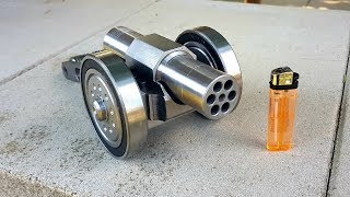 Video SIX Barrel !!! Powerful Mini Cannon. 9mm Caliber. Most Powerful mini Cannon EVER !!! download MP3, 3GP, MP4, WEBM, AVI, FLV Oktober 2018