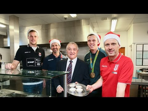 Stoke City Deliver Christmas Cheer At YMCA
