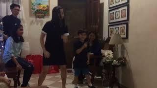 Nanay Madc and Bullet Baby dancing Dahil Sa'yo