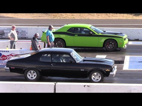 Old Vs New Muscle Cars Drag Racing,Dodge Demon,Hellcat,Chevy Nova And More
