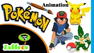 Fast Cartoon sketch : draw pokemon : Speed Drawing Animation #9 | رسم بوكيمون | ポケモンの描画 | zaffron