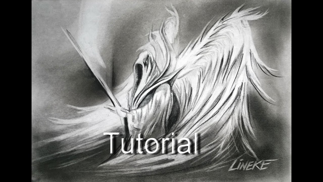 Drawing a war angel in graphite and pencil eraser youtube