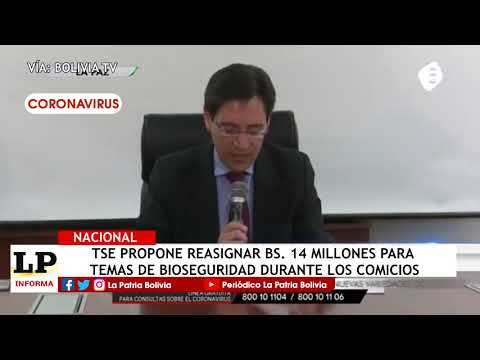 TSE propone reasignar Bs. 14 millones pa...