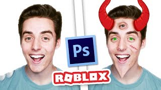 PHOTOSHOPPING ROBLOX YOUTUBERS