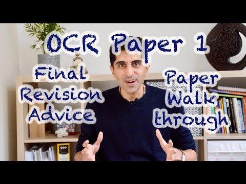 OCR Paper 1 Final Revision Advice & Paper Walkthrough!