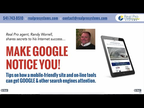 MAKE GOOGLE NOTICE YOU! - Real Pro in Real Estate Webinar