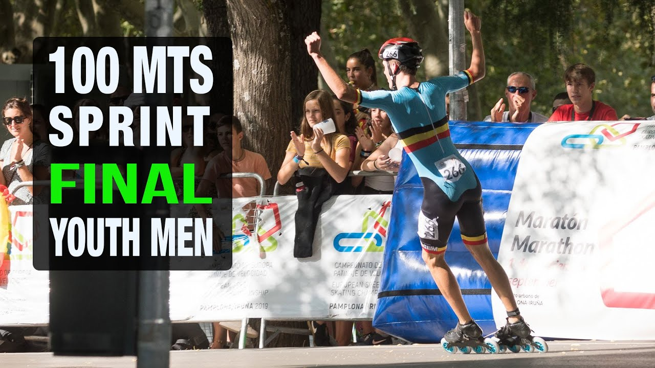 100 Mts Sprint Youth MEN Final | European Championships 2019