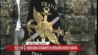 CONDECORAN A ESTANDARTE DE OPERACION CHAVIN DE HUANTAR PART 2
